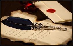 письмо перо
