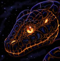 черная водяная змея