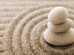 камни и песок сад дзен