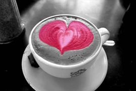 сердце капучино