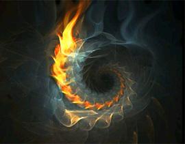 спираль огонь