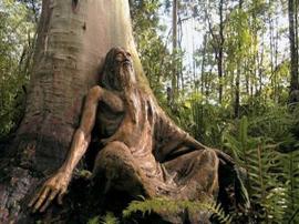 сад деревянных скульптур