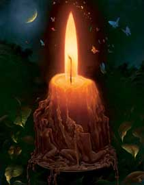 пламя свечи