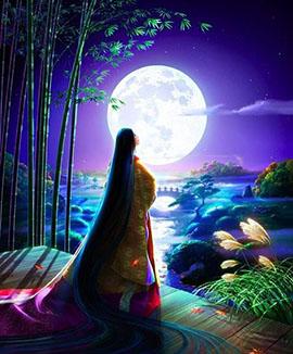полная луна и богиня