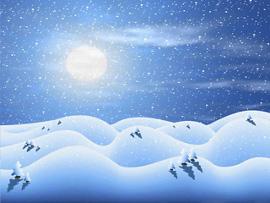 полнолуние снег