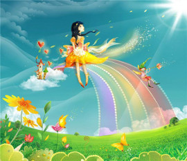 женщина на радуге