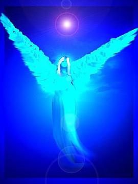 ангел синий